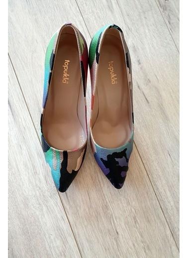 Topukla Ayakkabı Renkli